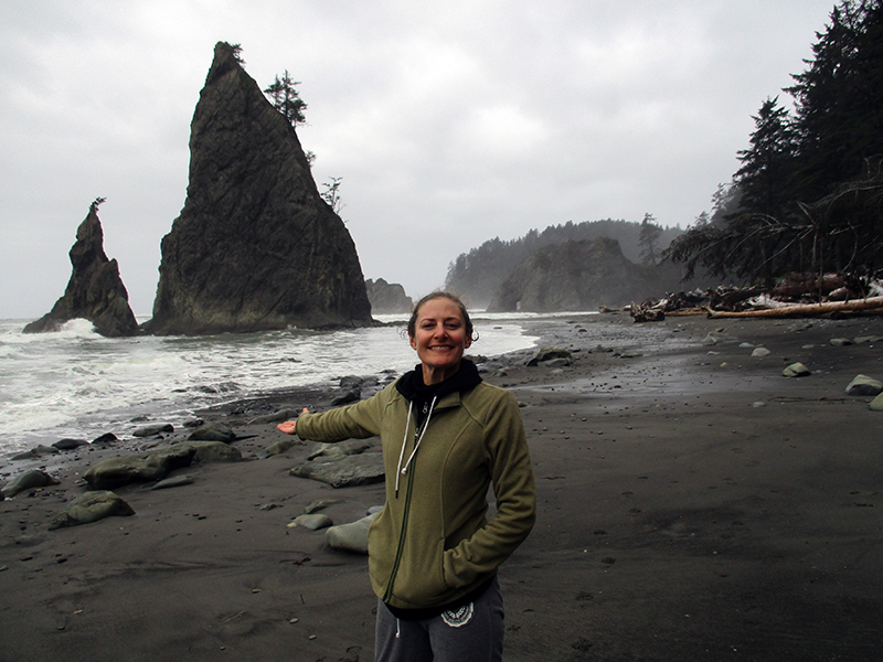 Christi at Rialto Beach in Olympic National Park
