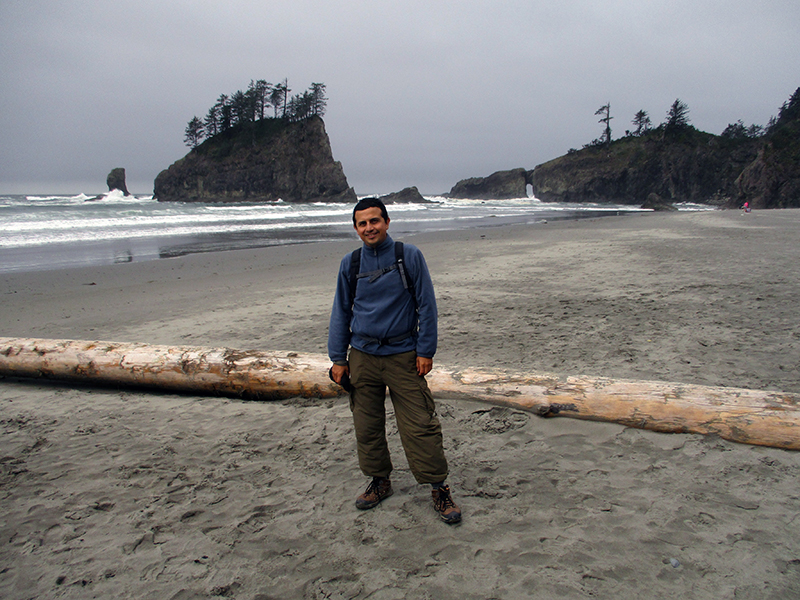 Hector at Second Beach in Olympic National Park