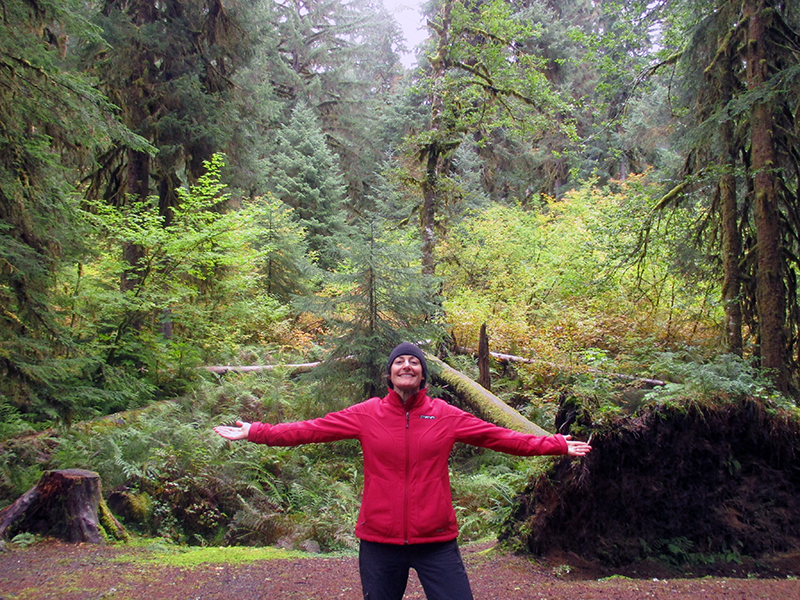 Christi at Olympic National Park's Sol Duc Campground