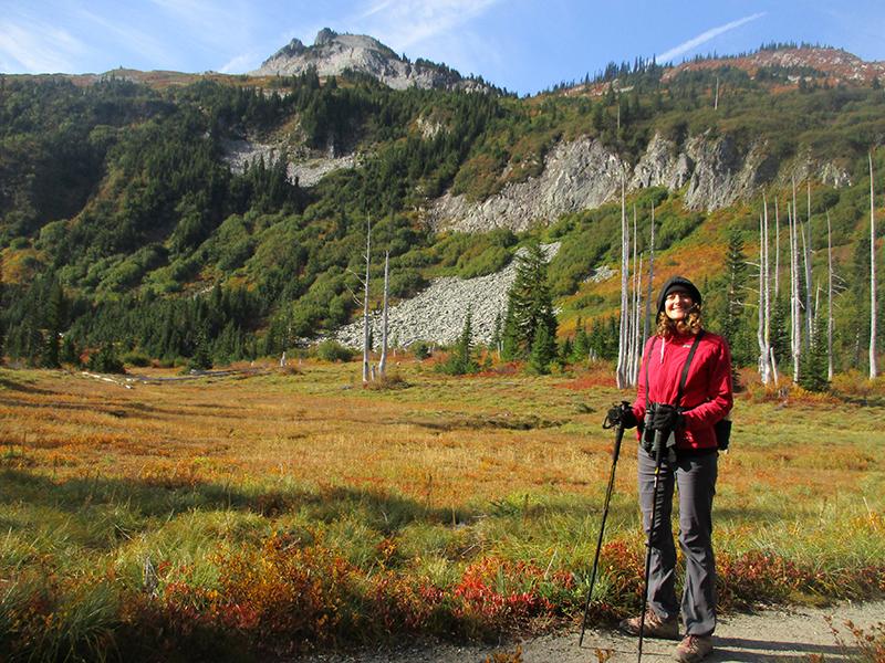 Christi on Mount Rainier's Snow Lake Trail