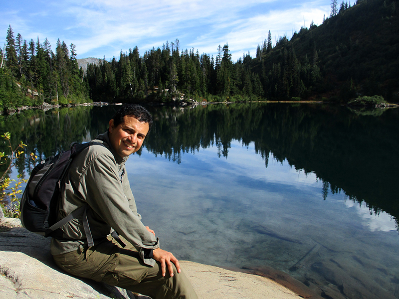 Hector at Mount Rainier's Snow Lake