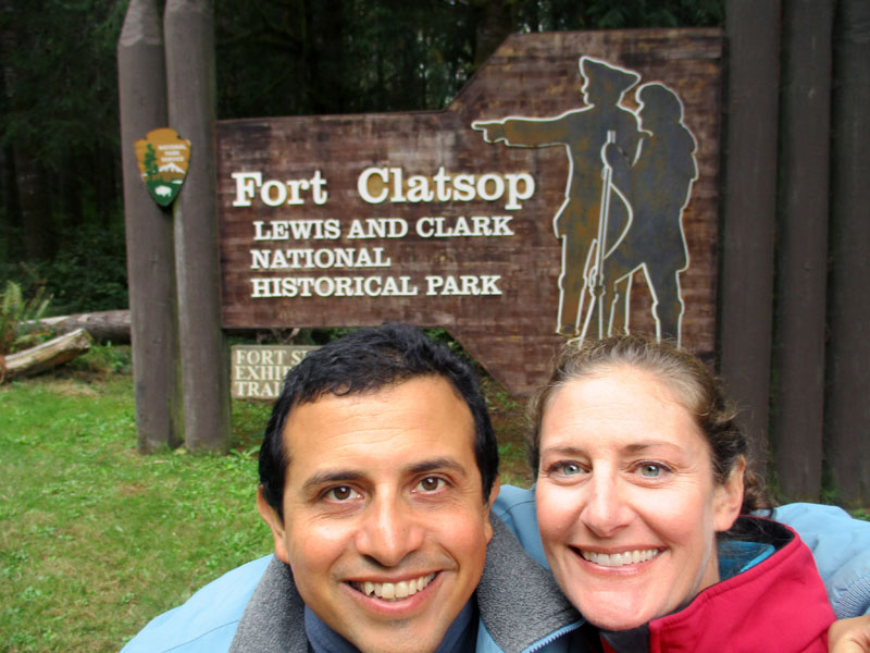 Hector & Christi at Fort Clatsop
