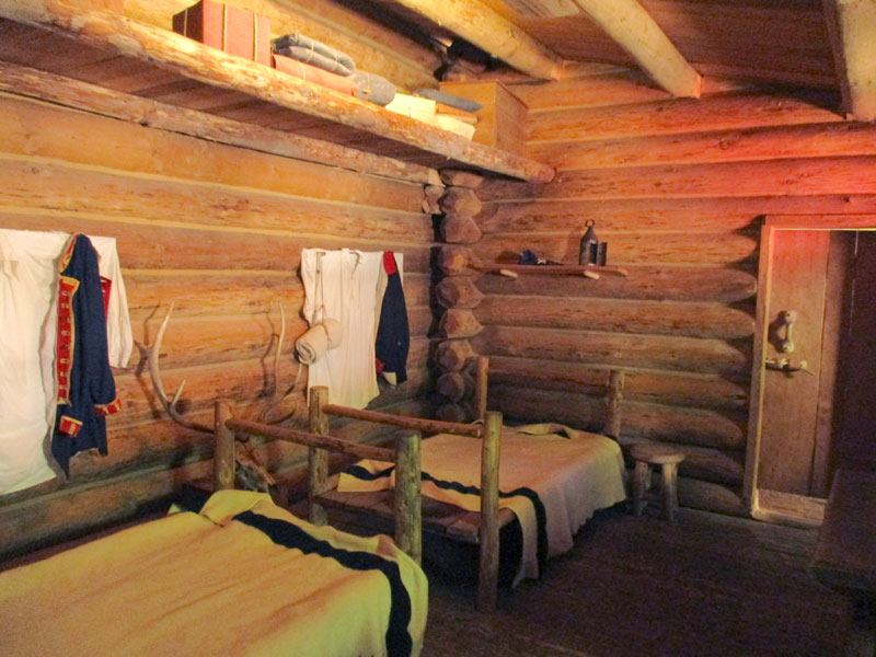 Bunk room at Fort Clatsop