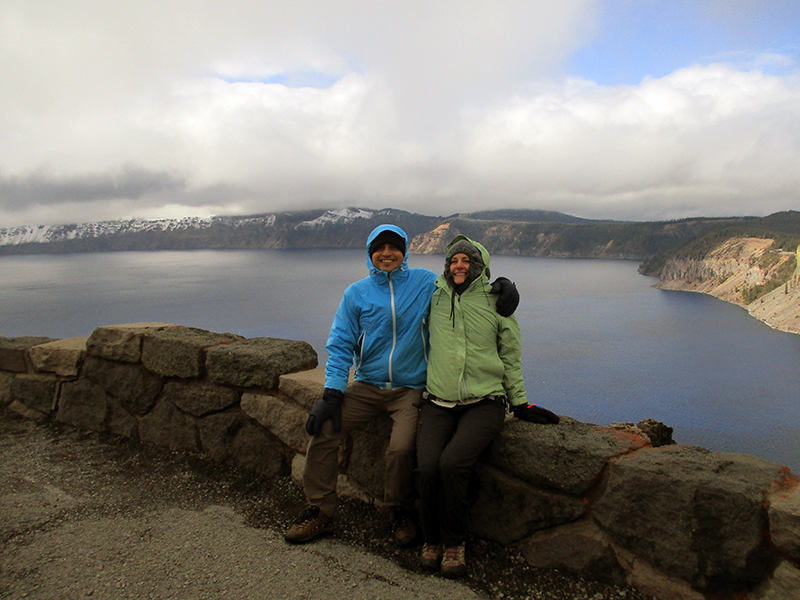 Hector & Christi in Crater Lake National Park