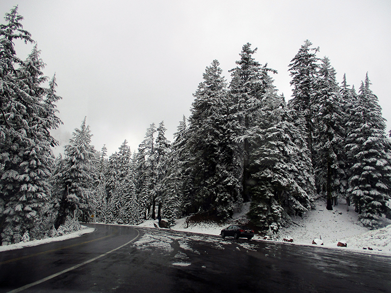 Snow at Crater Lake National Park
