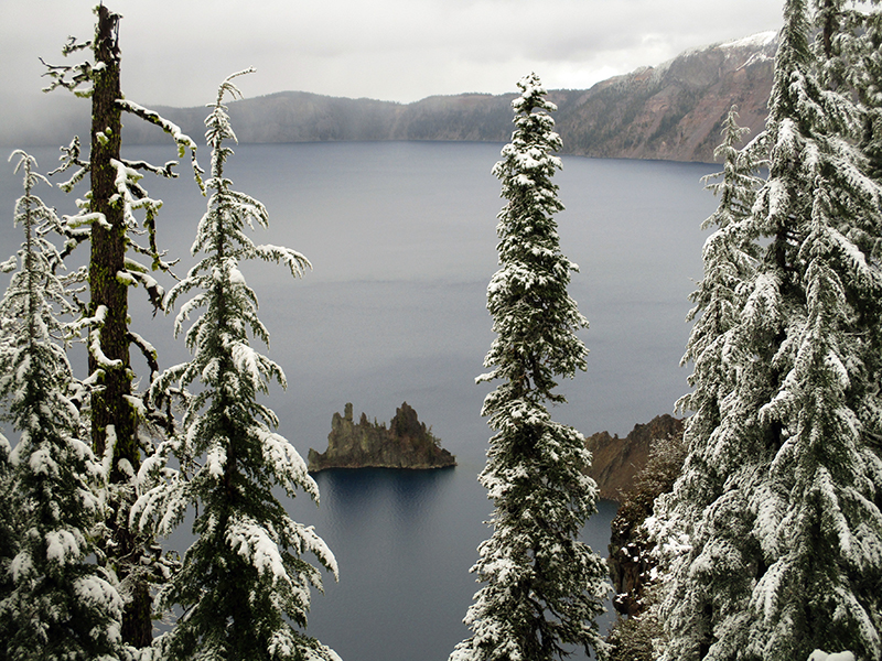Phantom Ship in Crater Lake