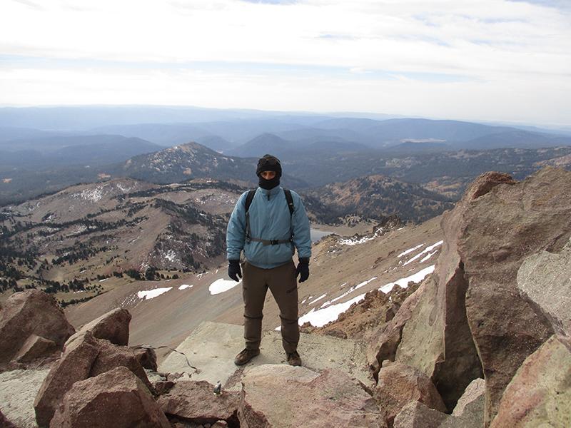 Hector on Lassen Peak