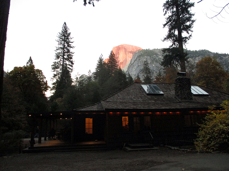 Guest lounge at Yosemite's Half Dome Village