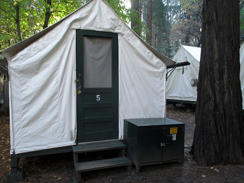Tent cabin at Half Dome Village in Yosemite