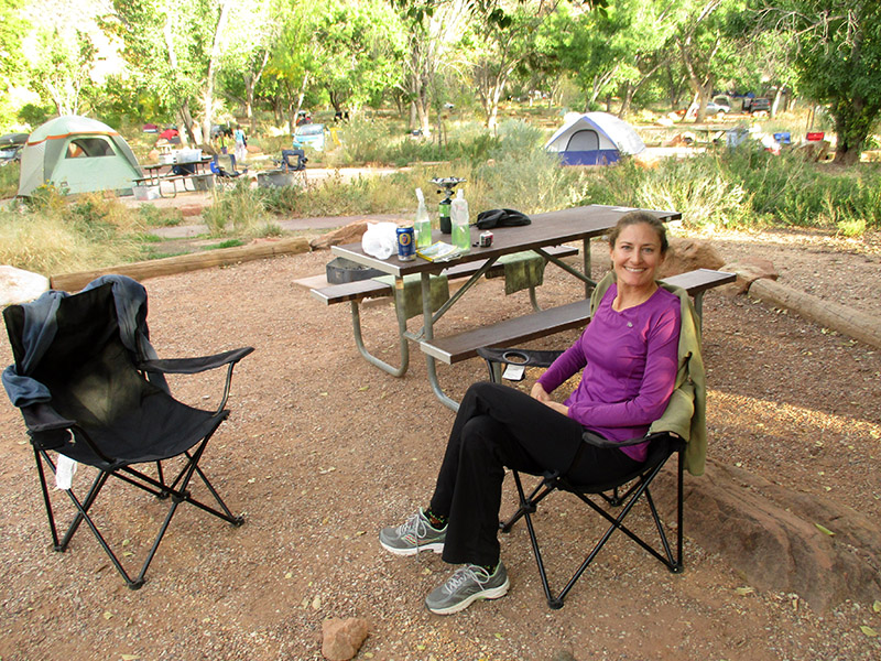 Christi in Zion National Park's Watchman Campground