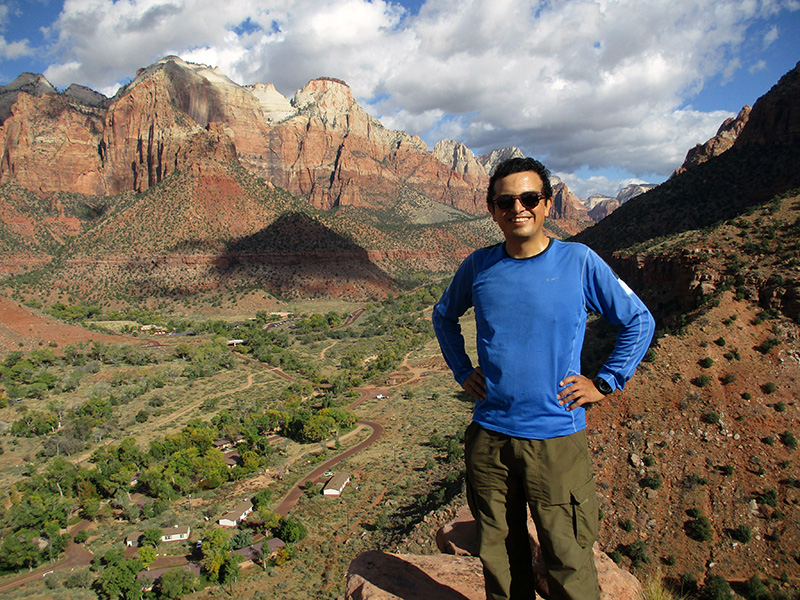 Hector on Zion National Park's Watchman Trail