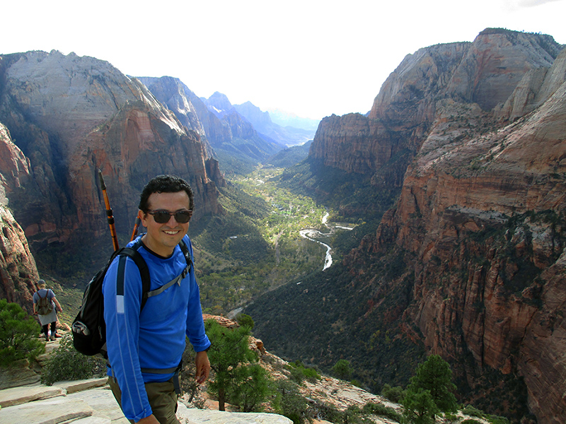 Hector on Zion National Park's Angel's Landing