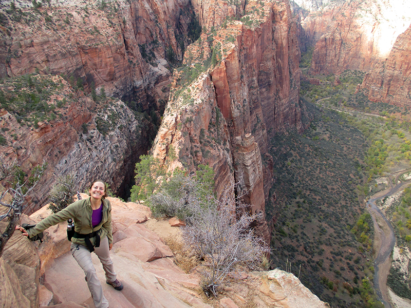 Christi on Zion National Park's Angel's Landing