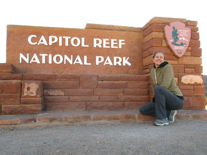 Christi in Capitol Reef National Park