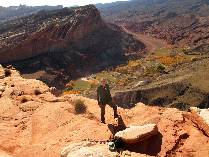 Christi at Capitol Reef's Rim Overlook