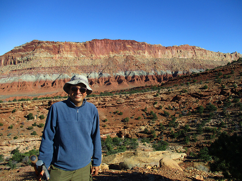 Hector on Capitol Reef's Fremont River Trail