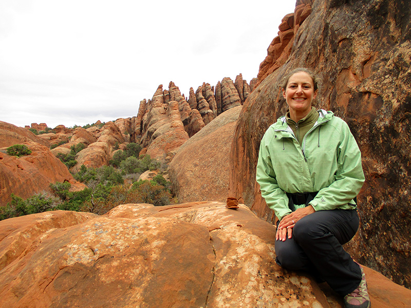 Christi in Arches National Park