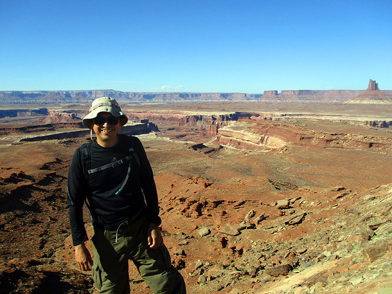 Hector on Murphy Loop Trail in Canyonlands National Park