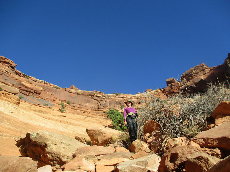 Christi on Murphy Loop Trail in Canyonlands National Park
