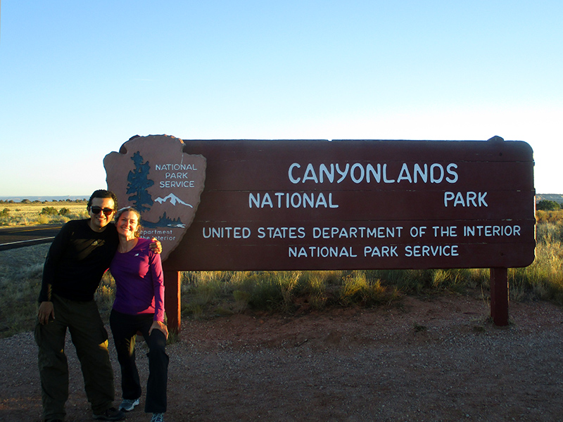 Hector & Christi at Canyonlands National Park
