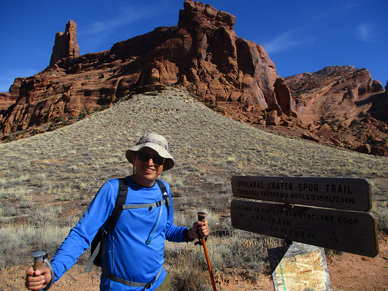 Hector on Syncline Loop Trail in Canyonlands National Park