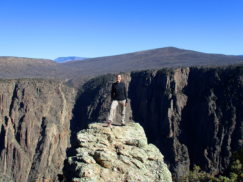 Christi in Black Canyon of the Gunnison National Park