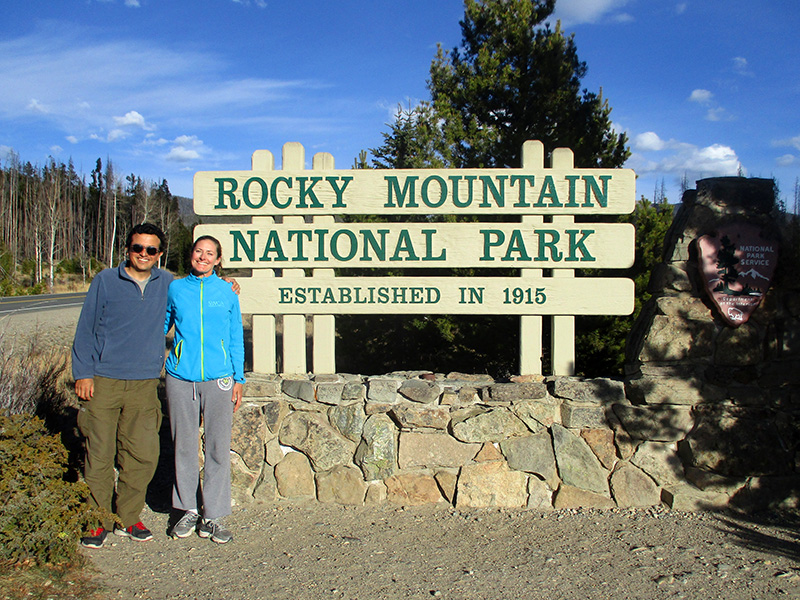 Hector & Christi in Rocky Mountain National Park