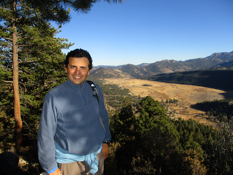 Hector on Beaver Mountain in Rocky Mountain National Park