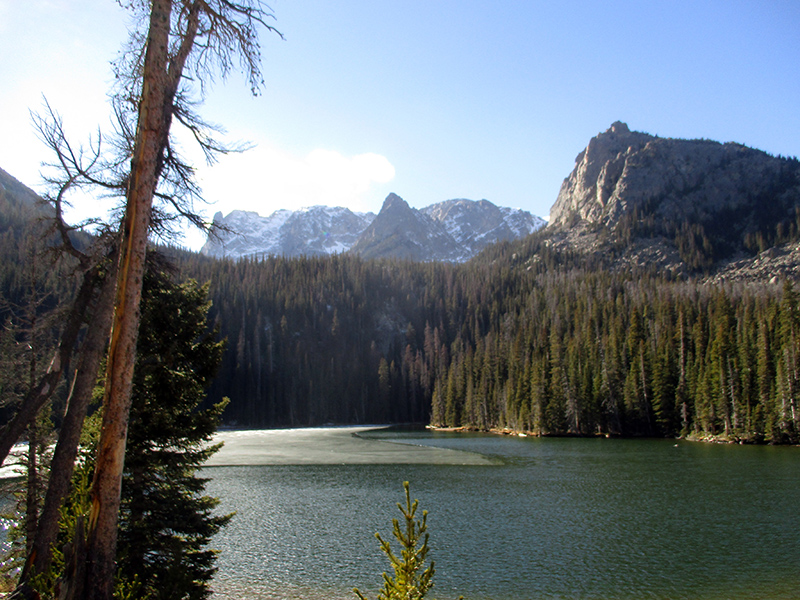 Fern Lake in Rocky Mountain National Park