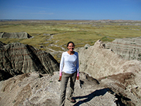 Christi in Badlands National Park