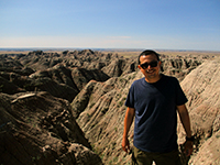 Hector in Badlands National Park