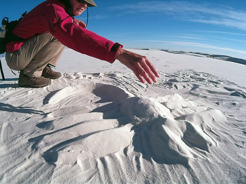 Christi on the dunes in White Sands National Monument