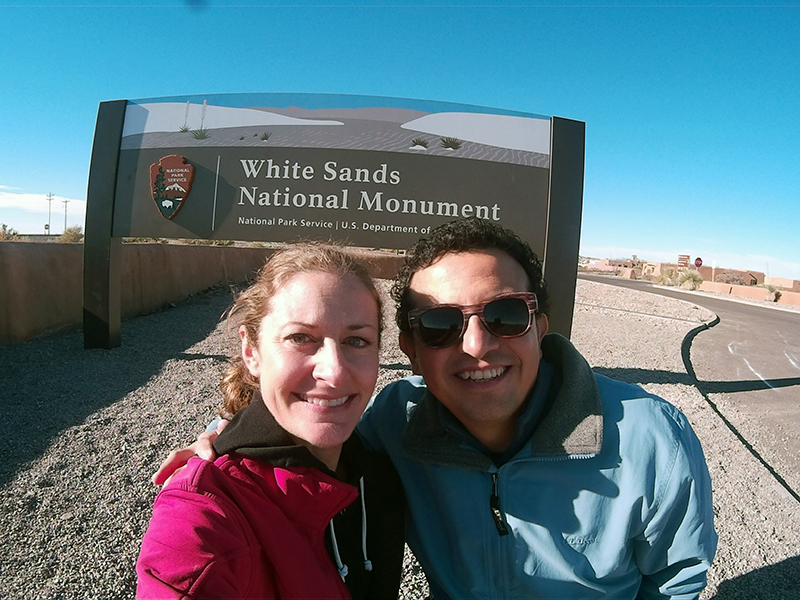 Christi & Hector at White Sands National Monument