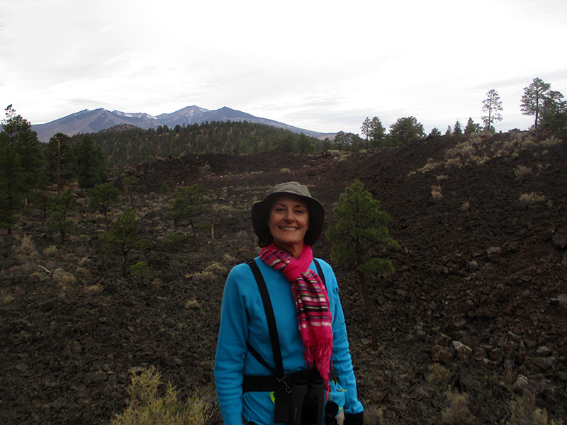 Christi at Sunset Crater