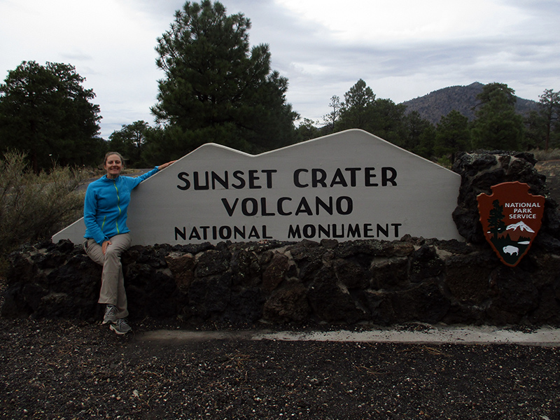 Christi at Sunset Crater National Monument