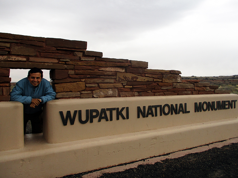 Hector at Wupatki National Monument