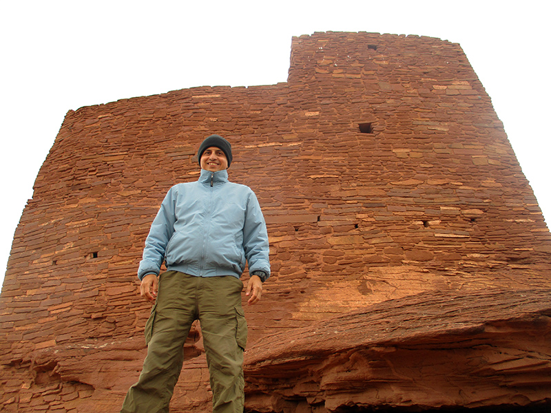 Hector at Wukoki Pueblo site