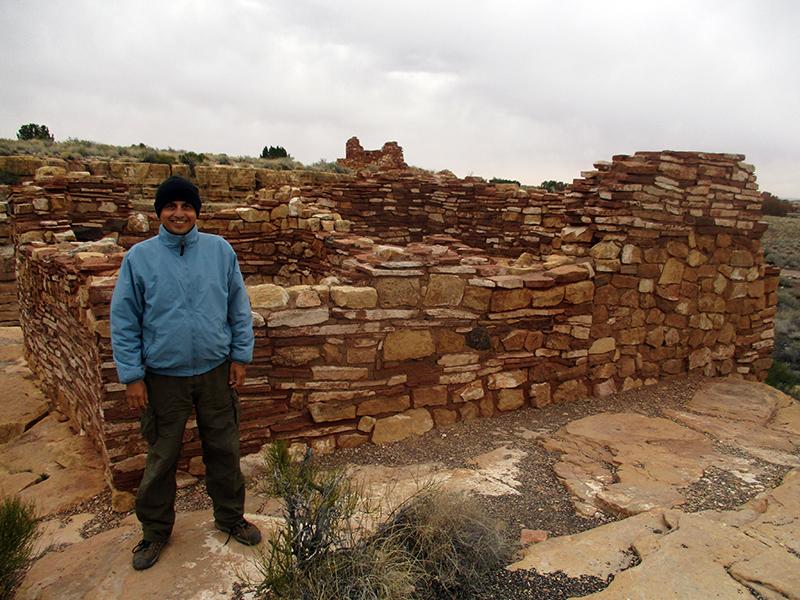 Hector at Lomaki Pueblo site