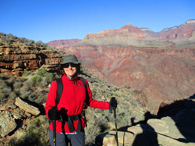 Christi at the Tipoff on the South Kaibab Trail