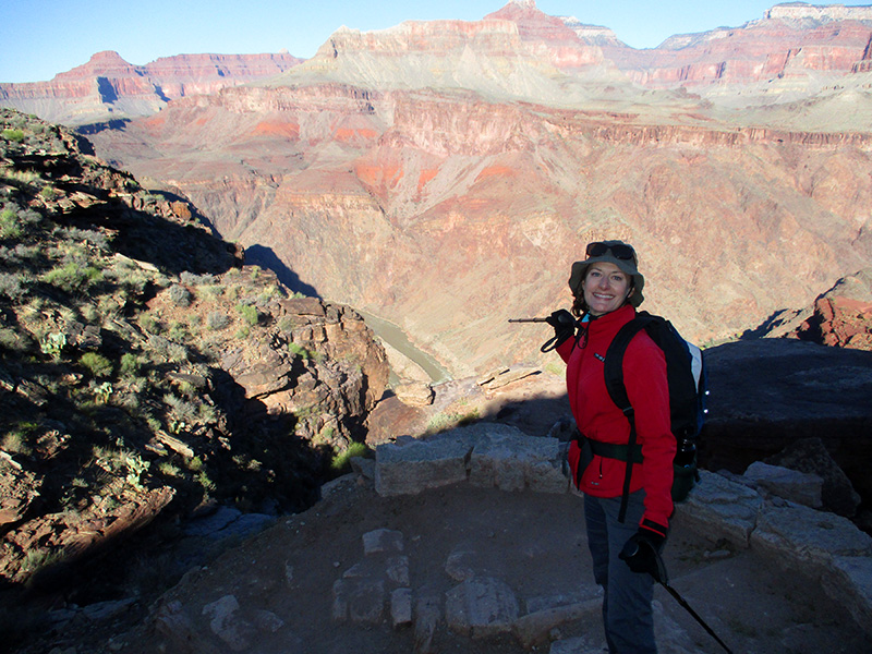 Christi on the South Kaibab Trail
