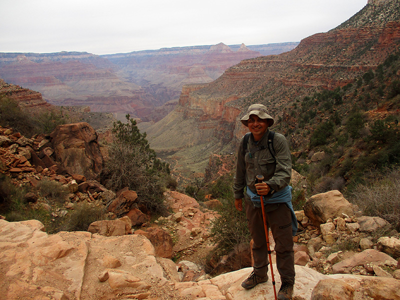 Hector on the Bright Angel Trail in the Grand Canyon