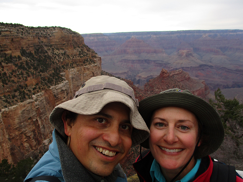 Hector & Christi on the Bright Angel Trail in the Grand Canyon