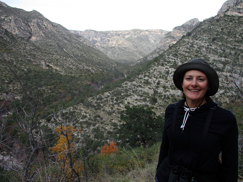 Christi on McKittrick Canyon Trail in Guadalupe Mountains National Park