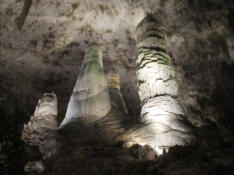 Cave formations in Carlsbad Cavern