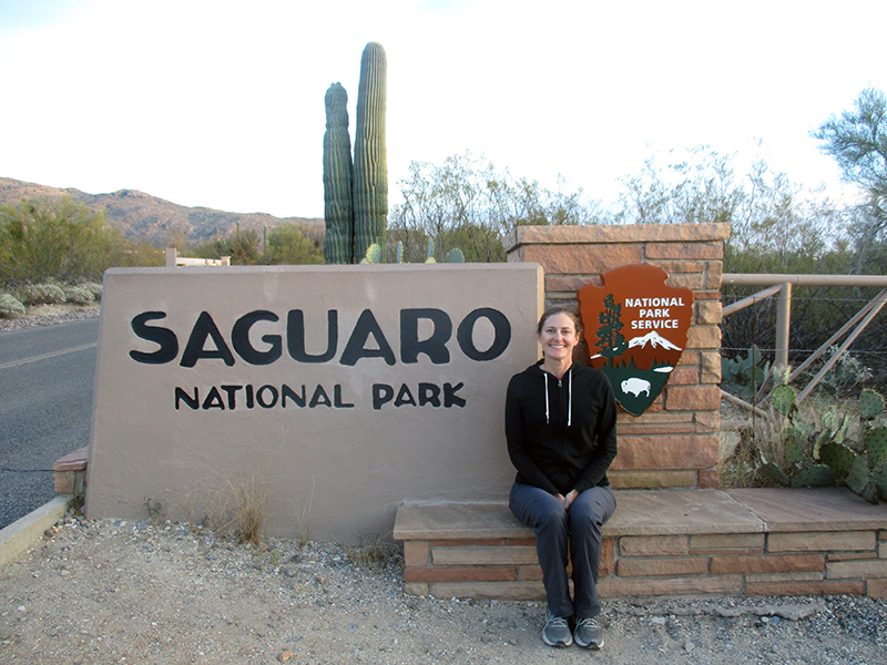 Christi at Saguaro National Park