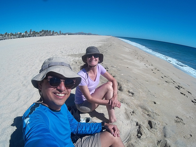 Hector & Christi at the beach in San José del Cabo