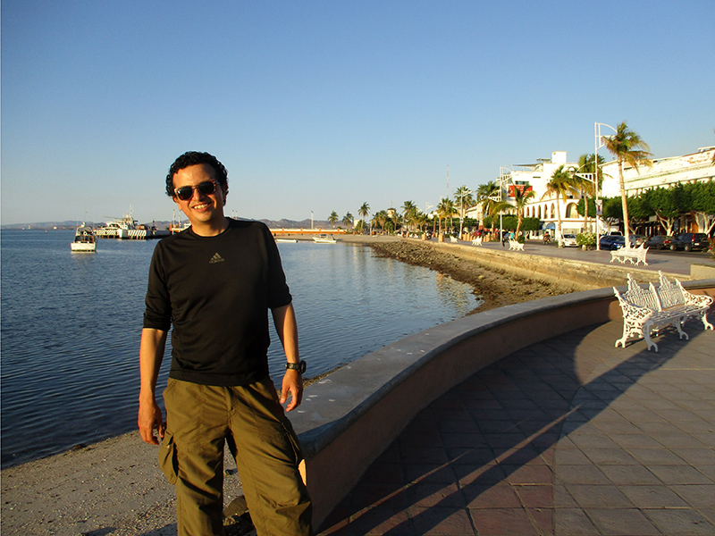 Hector on the malecon in La Paz