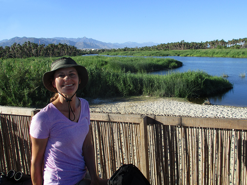 Christi at the San José del Cabo estuary