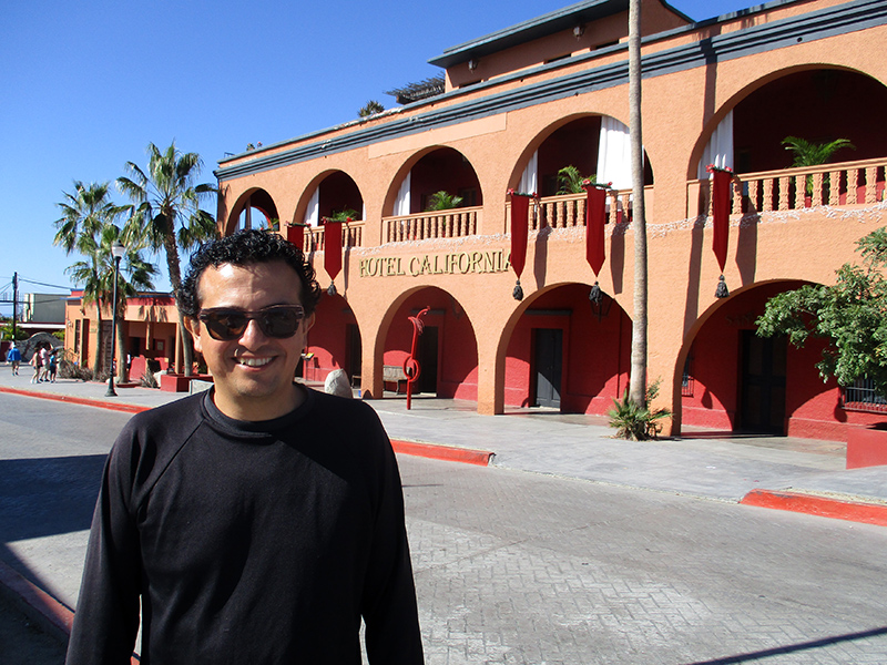 Hector at the Hotel California in Todos Santos