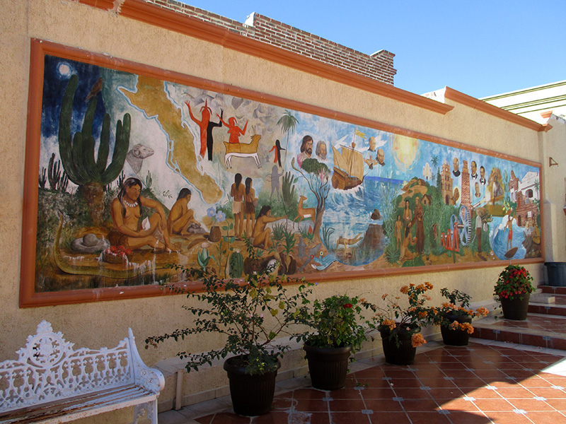 Mural in downtown Todos Santos